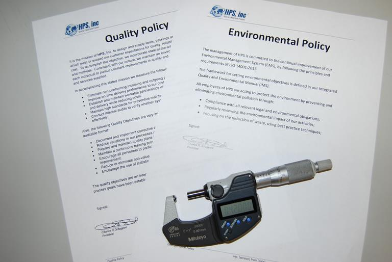 HPS Seals Quality Management